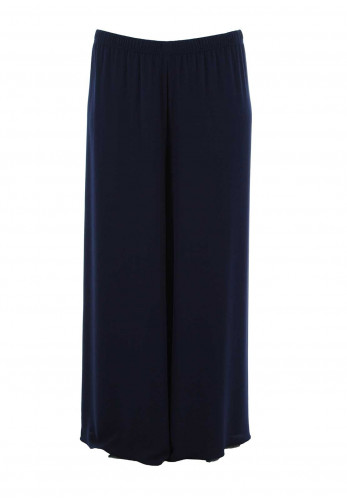 Georgede Crepe Wide Leg Trousers, Navy