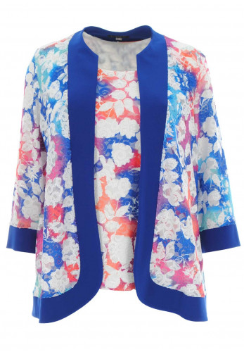 Georgede Lace Top & Jacket Twinset, Multi-Coloured
