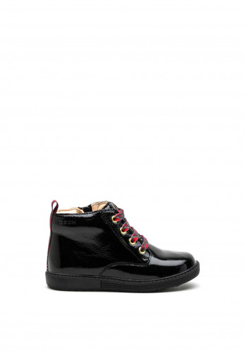 Geox Toddler Patent Leather Boots, Black