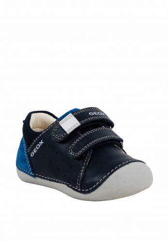 Geox Baby Boys Velcro Strap Leather Shoes, Navy