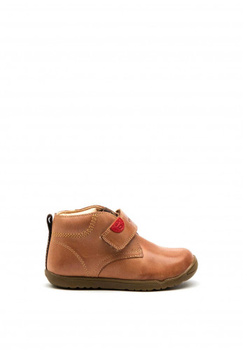 Geox Todlder Leather Velcro Boots, Tan