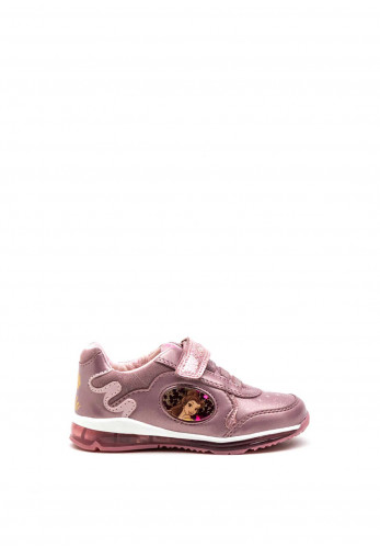 Geox Toddler Disney Belle Velcro Lace Trainers, Blush