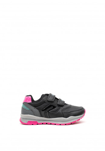 Geox Girls Sport Double Strap Trainers, Black