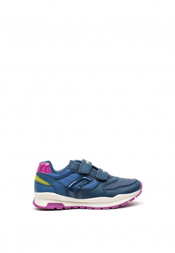 Geox Girls Sport Double Strap Trainers, Navy