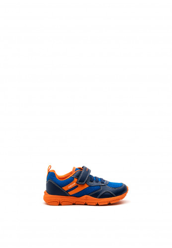 Geox Boys Torque Runners, Navy Blue Orange