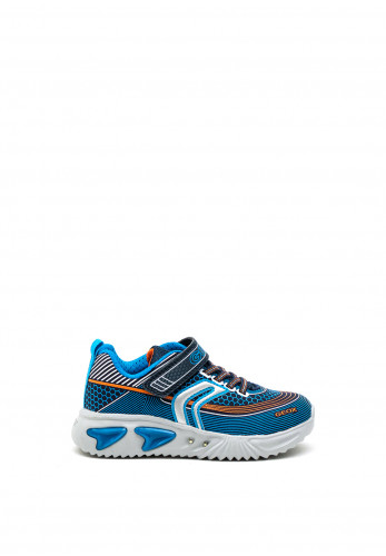 Geox Assister Trainers, Blue Grey