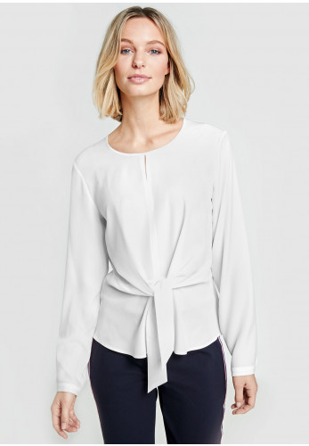 Gerry Weber Tie Front Crepe Blouse, White
