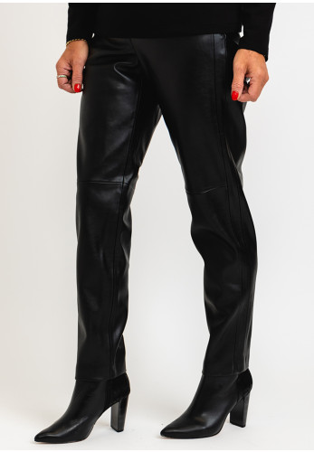 Gerry Weber Faux Leather Trousers, Black