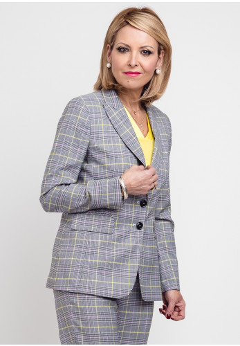 Gerry Weber Check Blazer Jacket, Black Multi