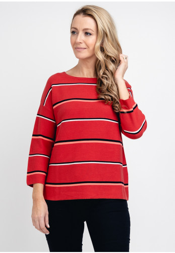 Gerry Weber Striped Knit Jumper, Red