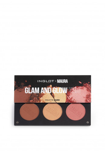 Inglot x Maura Glam and Glow Trio Palette, Dark
