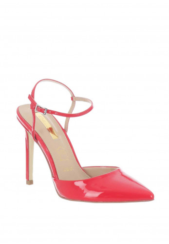 Glamour Camie Patent Pointed Toe Sandals, Red