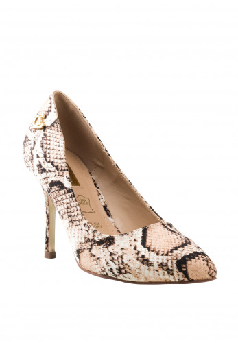 Glamour Clara High Heel Shoes, Snake Print