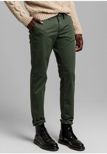 Gant Slim Fit Twill Chino Trousers, Thyme Green