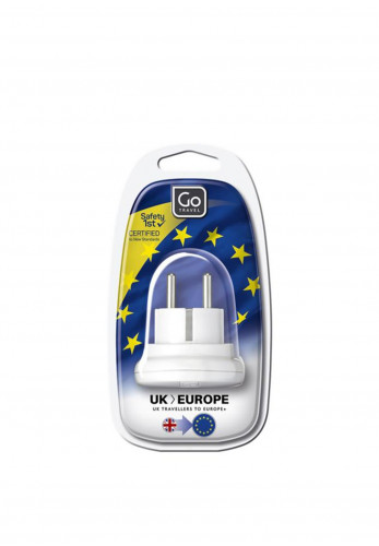 Go Travel Adaptor Plug, IRL/UK to Europe