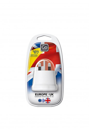 Go Travel Adaptor Plug, Europe to Ireland and the UK