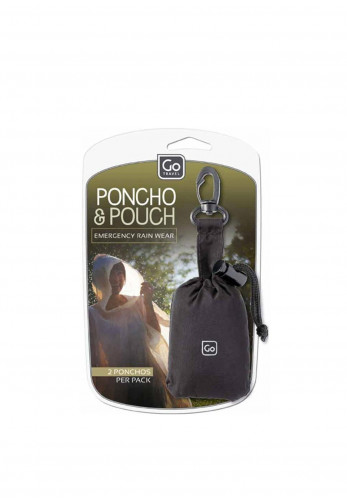 Go Travel Poncho and Pouch Rain Protector, 2 Pack