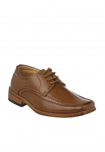 Goor Boys Formal Laced Shoes, Tan