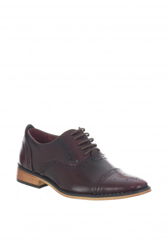 Goor Boys Brogue Lace Up Shoes, OX Blood