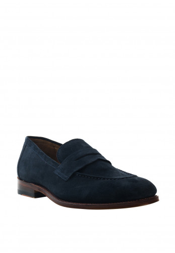 Gordon & Bros Fabio Leather Slip on Shoe, Navy