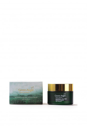 Green Angel Pure & Organic Seaweed & Tea Tree Rescue Cream with Vitamin E 50ml