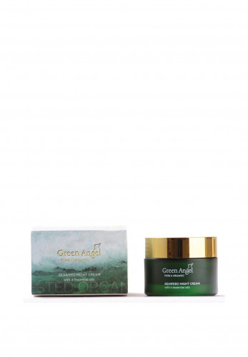 Green Angel Pure & Organic Seaweed Night Cream with 6 Essential Oils 50ml
