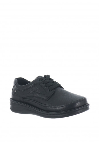 Grunwald Lace Up Leather Shoe, Black