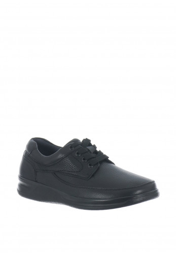 Grunwald Sensitive Lace Up Leather Shoe, Black