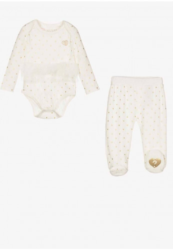 Guess Baby Two Piece Set, Cream/Gold