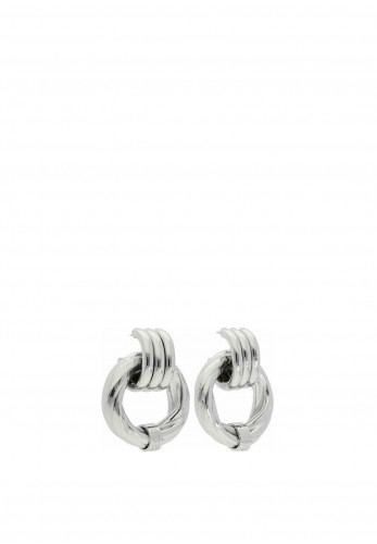 Guess Large Twist Chunky Earrings, Silver