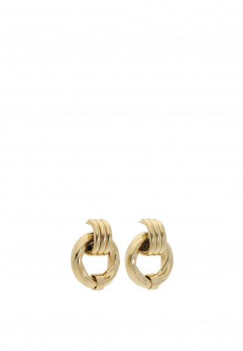 Guess Large Twist Chunky Earrings, Gold