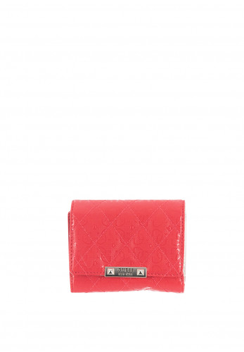Guess Tiggy Small Trifold Purse, Coral