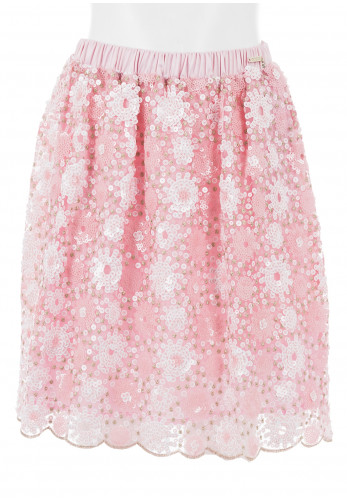 Guess Girls Sequin Party Skirt, Pink