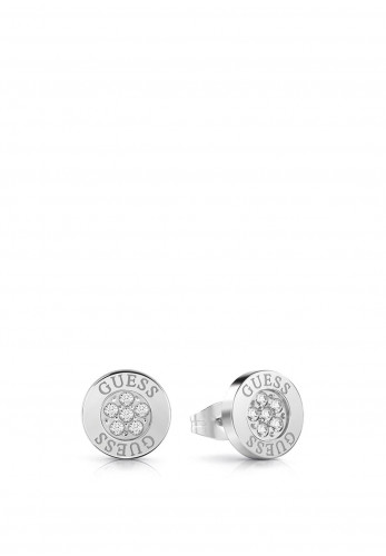 Guess Love Knot Crystal Stud Earrings, Silver
