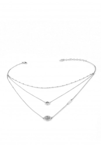 Guess 'Equilibre' Layered Necklace, Silver