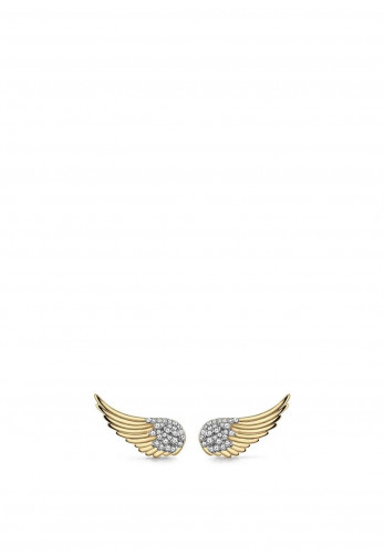 Guess Fly With Me Winged Earrings, Gold