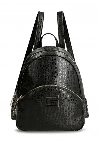 Guess Blane Patent Embossed Backpack, Black