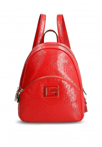 Guess Blane Patent Embossed Backpack, Red