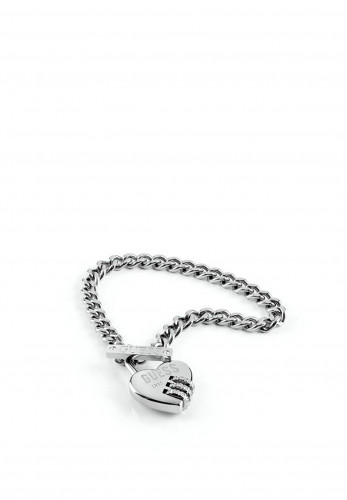 Guess 'Lock Me Up' Chain Bracelet, Silver