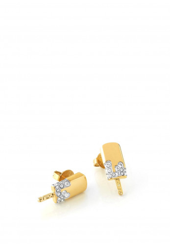 Guess 'I melt for you' Ice-cream Stud Earrings, Gold