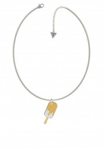 Guess 'I Melt For You' Pendant Necklace, Silver & Gold