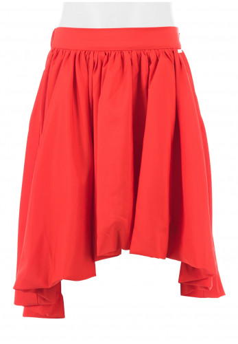 Guess Girls High Low Soft Pleat Skirt, Red