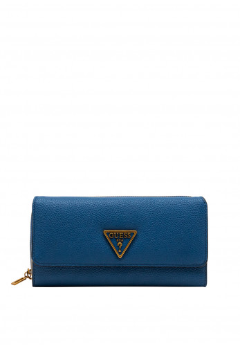 Guess Destiny SLG Zip Around Large Wallet, Royal Blue