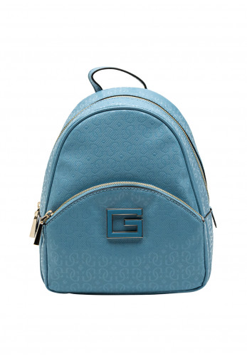 Guess Blane Patent Embossed Backpack, Blue