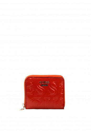 Guess Brightside Small Zip Around Purse, Red