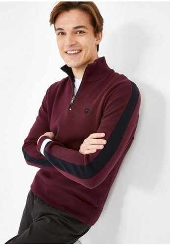 Eden Park Trucker Neck Jumper, Bordeaux
