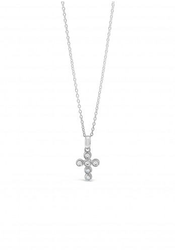 Absolute Kids Circle Cross Necklace, Silver