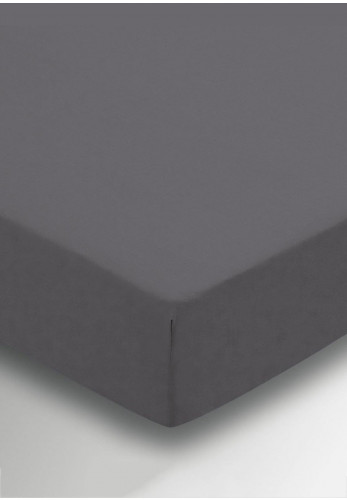 Helena Springfield 180 Thread Count Percale Fitted Sheet, Charcoal