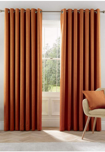Helena Springfield Eden Ready Made Lined Curtains, Ginger