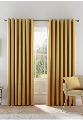 Helena Springfield Eden Lined Eyelet Curtains, Chartreuse